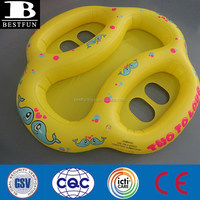 New Safety Inflatable Twin Baby Double Pool Float swim Seat twin baby swim ring twin baby water seat rider toys for pool