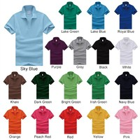 Wholesale High Quality 100% Cotton Mens Plain Stock Polo Shirts