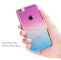 Cell phone accessory Rainbow color tpu cell phone case case for iphone 6 made in china