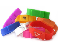 FASHION colorful silicon bracelet cheap usb stick logo, 8gb usb stick drive logo for custome