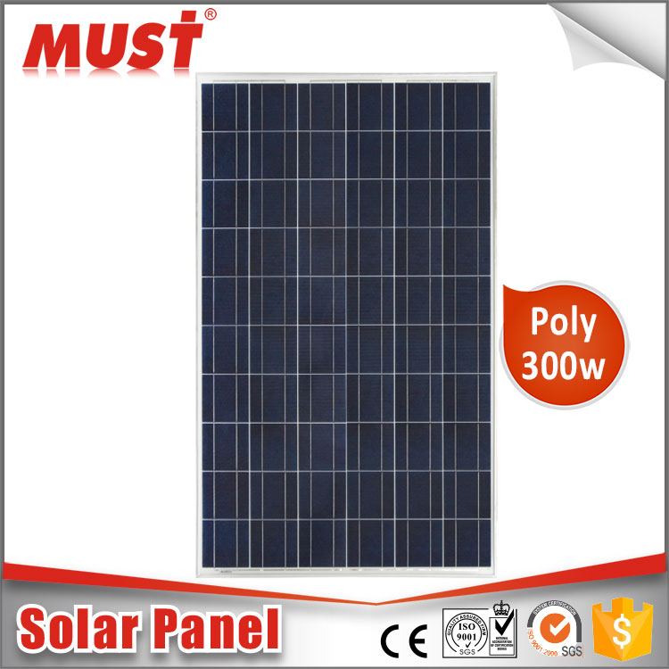 Chinese Supplier Promotional High Efficiency 300W Poly PV Solar Panel