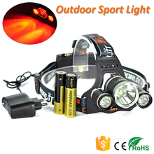 Red Light LED Headlamp Rechargeable Hunting Head Light