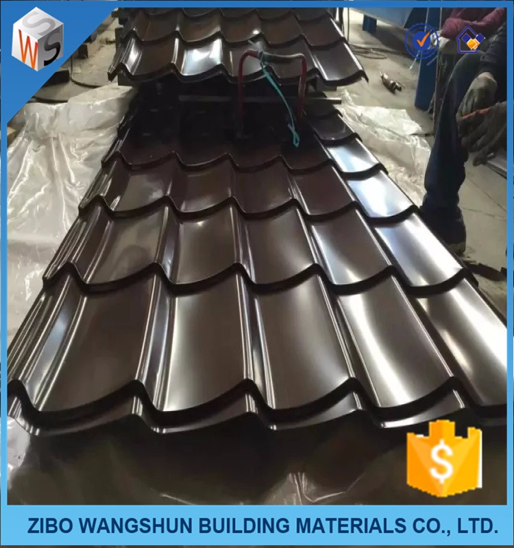 cheap corrugated color coated metal roofing sheet tile