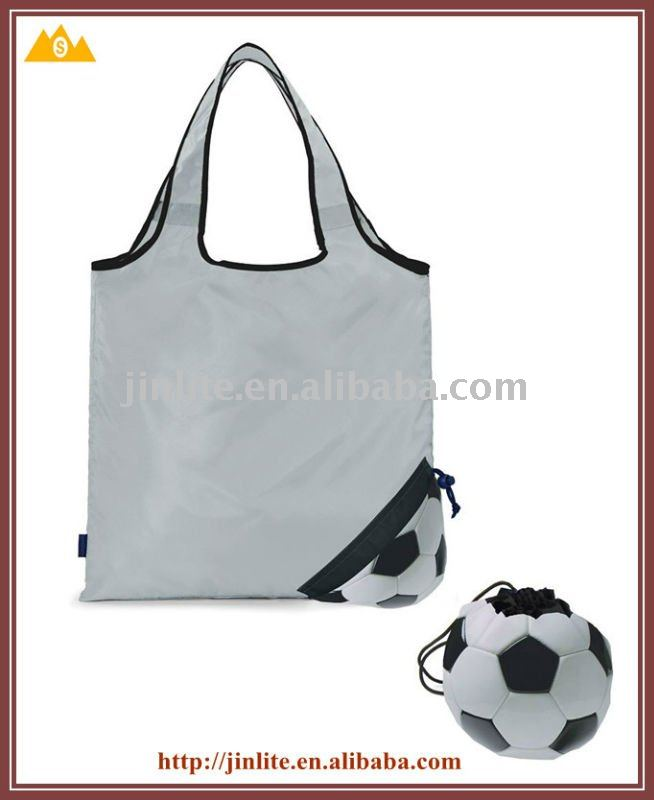 Drawstring soccer shopping bag