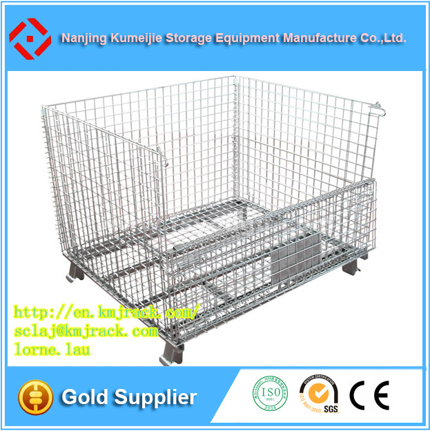 All Types Foldable Stacking Wire Mesh Container Cage