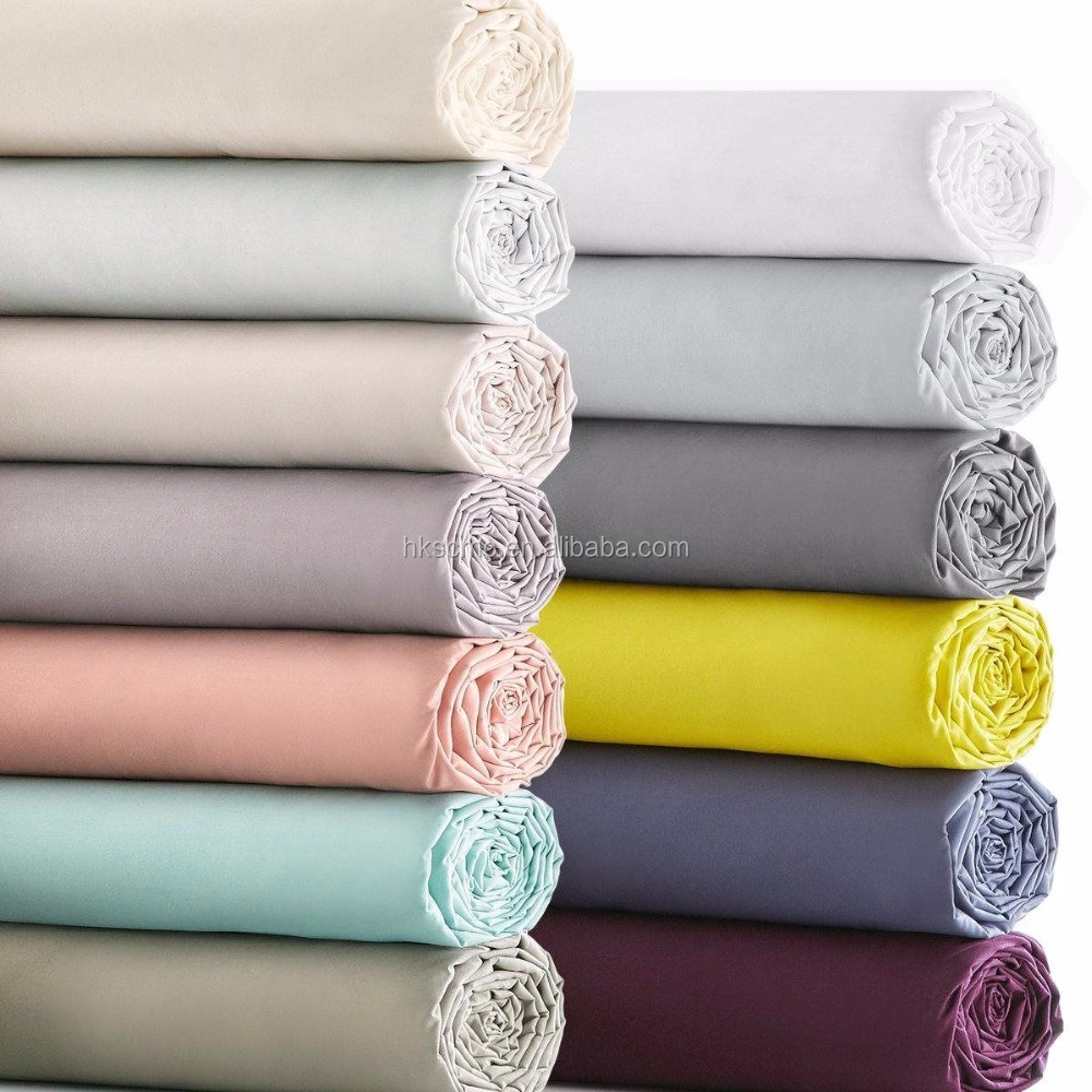 High quality soft anise polyester cotton home/hospital single fitted Sheet