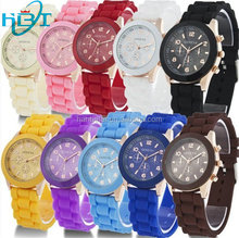 2014!HOT!NEW! Unisex Geneva Silicone Jelly Gel Quartz 5ATM Water Resistant Watch