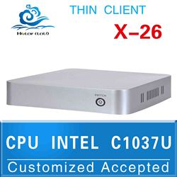 Htpc case mini itx case used thin client INTEL C1037U Celeron Dual-core 1.8GHz support Audio video video conference