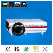 high quality low cost 3500 lumens mini projector with TV tuner