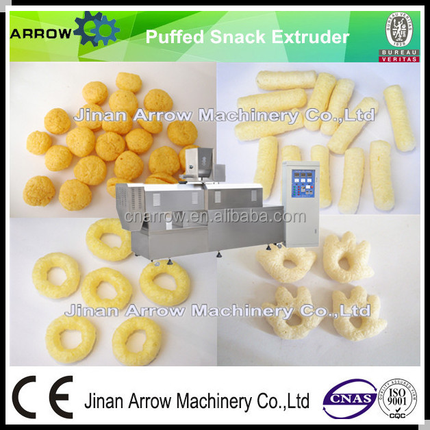 2016 Hot Sale Fully Automatic Puffed Corn Snacks Double Screw Extruder Machine