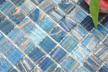 Blue normal Glass Mosaic tile For Pool Bathroom washroom Heatproof, acidproof hot spring spa