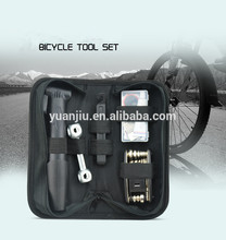 16 in 1 Bicycle Cycling Tyre Repair Multi Tool Set Kits With Mini Portable Pump