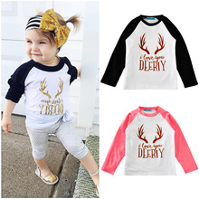 HT-TOP 2017 best selling nice kids clothing baby product fashion letter cartoon print T-shirt Kid tops wholesale t-shirts