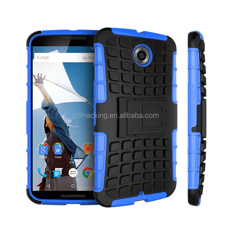 Shell-Shock Hybrid Kickstand Cover Holster For Motorola Google Nexus 6 Case
