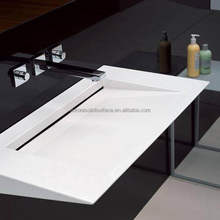 Factory Direct Supply Exquisite Bathroom Basin Artificial Solid Surface Stone Acrylic Art Wash Basin Sink