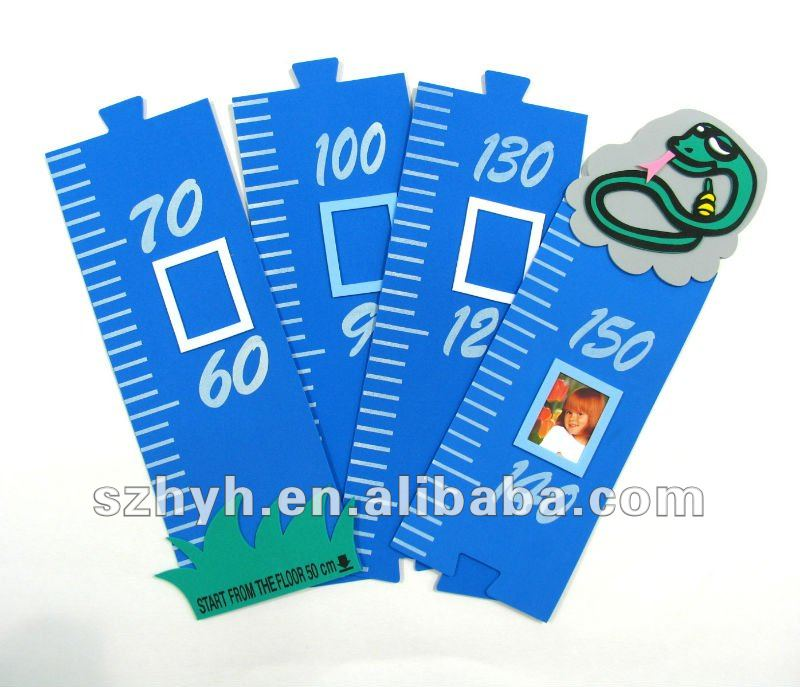 Cartoon eva foam growth ruler