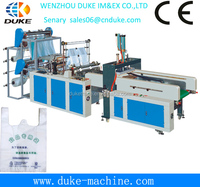 2014 hot sales Full automaticGBD-E 700 Computer Full Automatic high speed T-shirt Bag/polyethylene T-shirt bag making machine