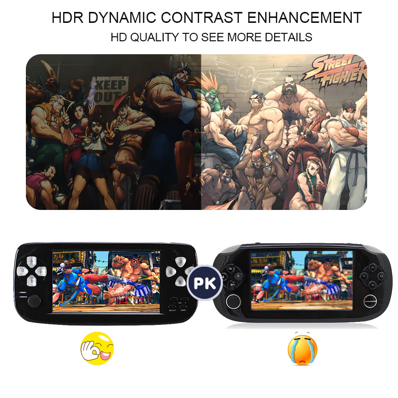 4.3 Inch HD Game Console 32 Bit Portable Game Player Bulit in 500 Games PAP-KIII