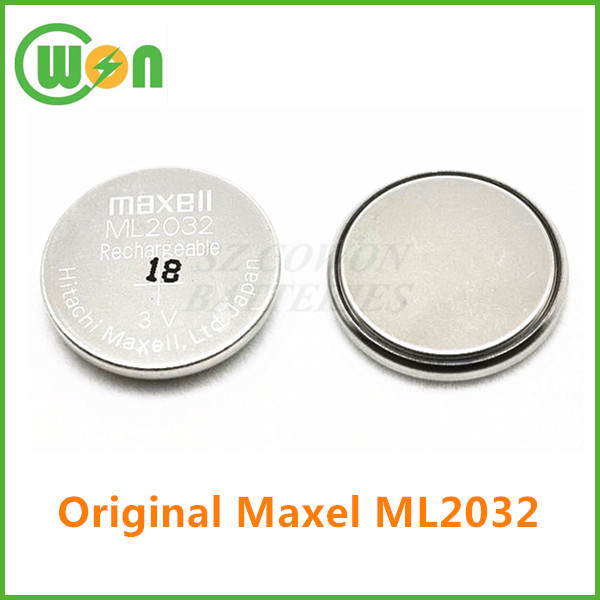 ML2032 3.0v rechargeable button cell for ml2032 maxell