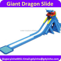 2016 giant inflatable dragon water slide for adult