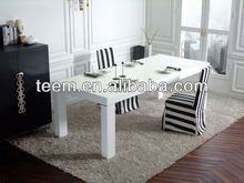 Modern long square size dining tables wood and stone dining table