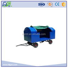 2T Steel Canopy Baggage Cart for airport luggage transport