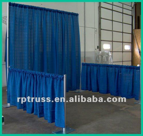 Pipe Base Plate with fitting Curtains for trade fair
