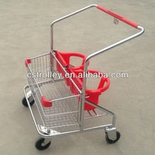 Supermarket Shopping Cart With 2 Baby Seats