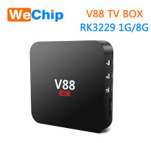 V88 android tv box 4K RK3229 quad core RAM 1GB ROM 8GB android 5.1 OS android tv box