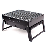 Outdoor Camping Mini BBQ Charcoal Portable Folding Barbecue grill