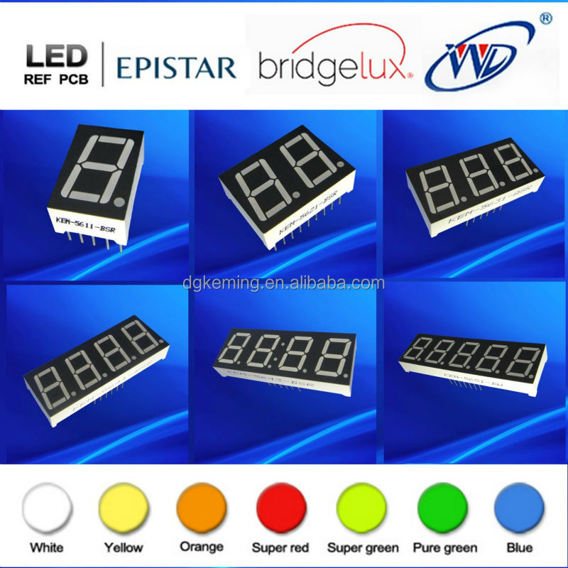 Seven segments 3 digit 0.56 inch 7 segment red led display 3 digits