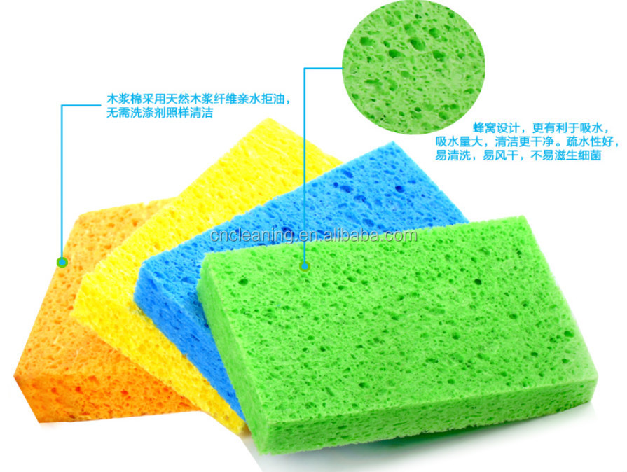 Natural cellulose sponges/kitchen cleaning sponge