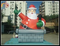 Giant inflatable christmas santa clause christmas inflatable santa creature family christmas snowman decoration