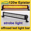 20 inch Epistar 120W led light bar white & yellow strobe light, flashing mode