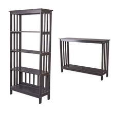 Home Furniture Units MDF Wood Wooden Modern Living Room Corner Black Tall Narrow Storage Book Cases Shelves For Sale