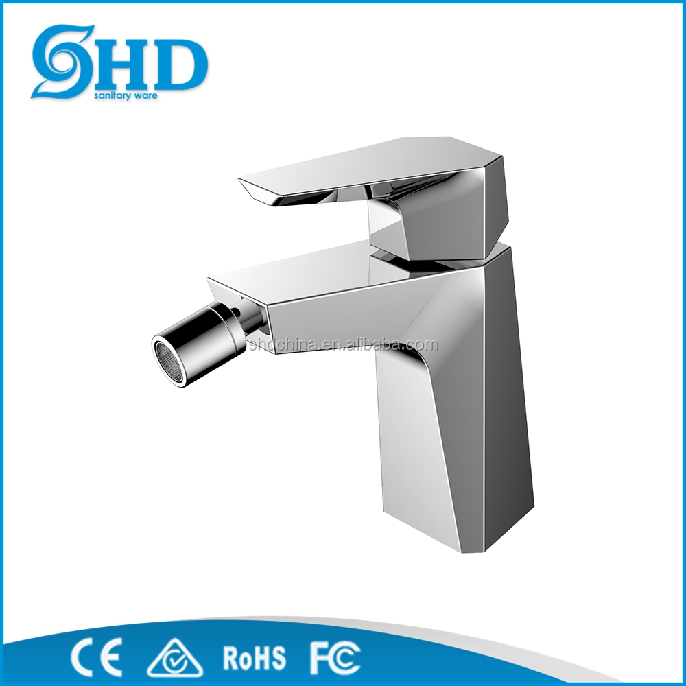 single lever brass chrome plated bidet faucet with shower