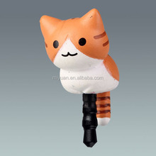 Newest New Arrival Cute Cat Shape Silicone Hand Phone Earphone Dust Proof Anti Dust Plug