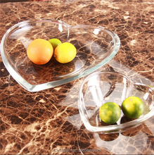 Wholesale crystal glass fruit plates dinnerware for wedding tableware set