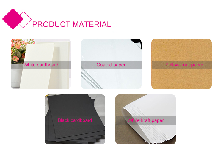 Rectangle design creative easy carry kraft paper food box packaging