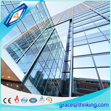 Hot sale 6mm clear tempered glass for window, construction building window glass price