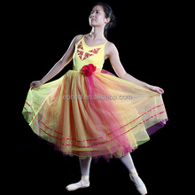 Ephod 2015 yellow ballet tutu costume/stage dance wear /ballet clothes childredEPBL-029