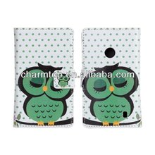 Frog Design Leather Wallet Cover For Nokia Lumia 520