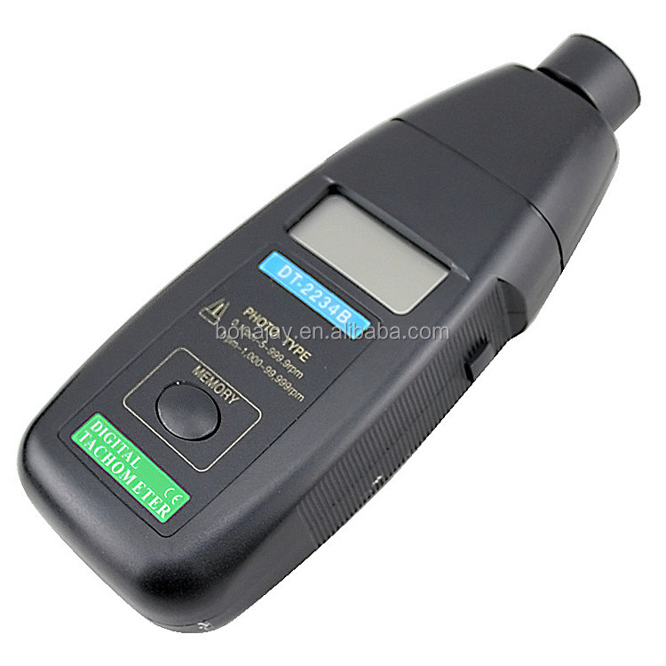 Non-contact digital Handheld photoelectric tachometer DT-2234B