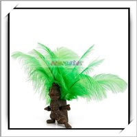 Cheap! 10pcs Light Green Ostrich Feathers For Decoration