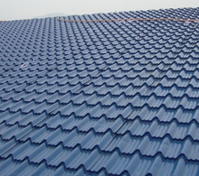 prepainted corrugated steel sheet roof tile