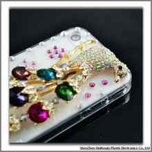 100% handmade luxury bling cell phone cases for iphone4 with factory price