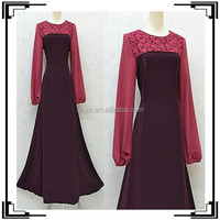 2015 new design fashion lace islamic clothing jubah for women