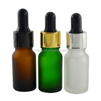 Factory price !!10ml frosted glass cosmetic jars/10ml pharmaceutical container/coloured glass bottles 10ml