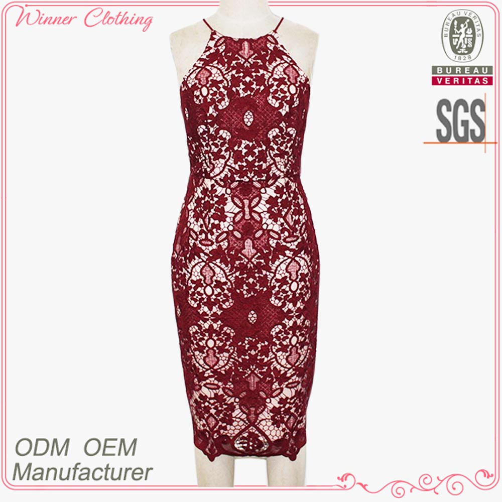 high quality tight fit lace party dress manufacturer