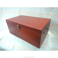 Brown wood treasure chest boxes,large antique storage box,traditional chinese home decorating keepsake box gifts